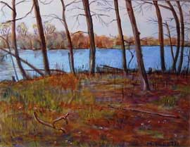 Acrylic paintings by peretti for Pond reeds for sale